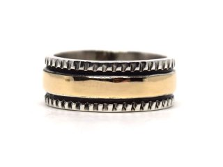 BRUCE MORGAN ブルースモーガン 14K STAMP RING THIN-CHIZEL