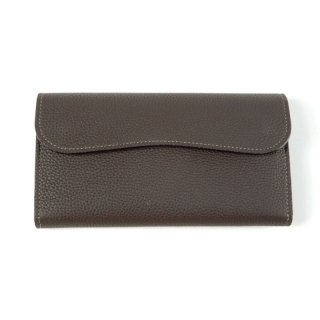 THE WONDER LUST ザワンダーラスト FLAP LONG WALLET-CHOCO