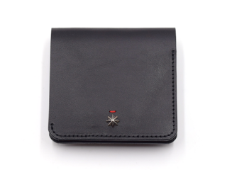 CALIFORNIA FEELING カリフォルニアフィーリング SMALL MINIMAL WALLET w/coin-BLACK