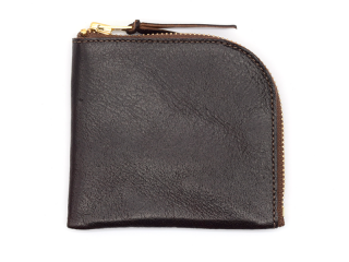 アンカーブリッジ ANCHOR BRIDGE|SHORT ZIP WALLET-HORSE LEATHER-CHOCO