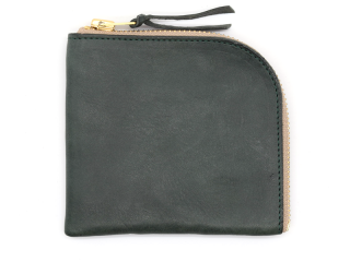 アンカーブリッジ ANCHOR BRIDGE|SHORT ZIP WALLET-WAX LEATHER-GREEN