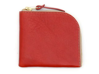 アンカーブリッジ ANCHOR BRIDGE|SHORT ZIP WALLET-NEW YORK-RED