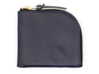 アンカーブリッジ ANCHOR BRIDGE|SHORT ZIP WALLET-NEW YORK-NAVY
