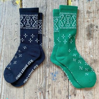 MAD MOUSE COMIC マッドマウスコミック|BANDANA SOX-BLACK&GREEN