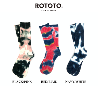 ロトト ROTOTO|TIE DYE FORMAL CREW SOCKS