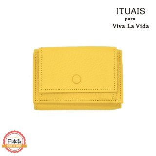 ITUAIS イトゥアイス|TAURILLON COMPACT WALLET-CURRY-イエロー