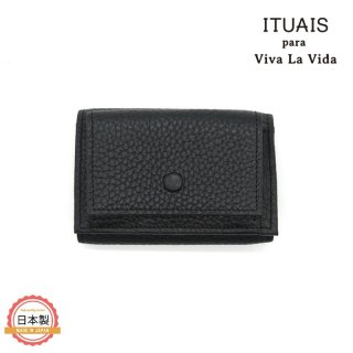 ITUAIS イトゥアイス|TAURILLON COMPACT WALLET-NOIR-ブラック<img class='new_mark_img2' src='https://img.shop-pro.jp/img/new/icons1.gif' style='border:none;display:inline;margin:0px;padding:0px;width:auto;' />