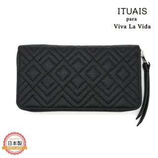 ITUAIS イトゥアイス|TAURILLON RO-RO WALLET LONG-DIAMOND-NOIR-BLACK