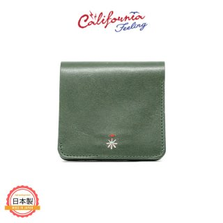 CALIFORNIA FEELING カリフォルニアフィーリング SMALL MINIMAL WALLET-GREEN