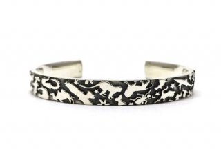 Gene Dee ジーンディ ANIMAL FLAT BANGLE-8mm