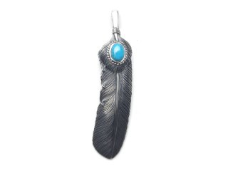 CAME ONE ケイムワン LARGE FEATHER w/heart&turquoise