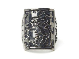Gene Dee ジーンディ Animal Shield Ring(SQUARE)