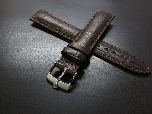 the latest 7d475 5fc46 ★ROLEX純正 SS尾錠 × 20mmクロコ竹符(ボンベ仕様)革ベルト(ダークブラウン) - わらやウォッチショップ