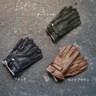画像:4920004 紳士ベルト付鹿革手袋/レザーグローブ