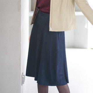 画像:1820006 スエードフレアスカート/レザースカート