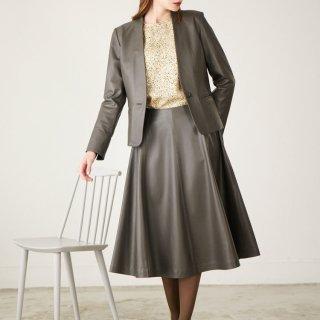 画像:1820009 ラムフレアスカート/レザースカート