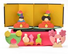 【数量限定】椿豆びなセットK (名入れ立札付き)