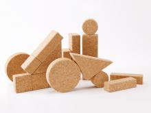 コルク積木(木箱入り)