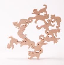 ネコの自由積み木