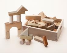 寄木の積木(木箱入り)