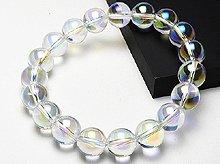 エンジェルオーラ水晶|左水晶 10mm玉|左手用ブレスレット