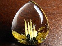 太陽ルチル|高品質ゴールドタイチンルチルクォーツ|右水晶|ペアシェイプ 13ct|No.2