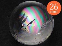 右水晶|高品質レインボー水晶玉 26mm No.18|天然スパイラルクォーツ(螺旋水晶)