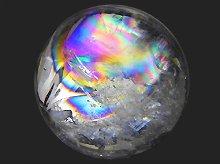 右水晶|高品質レインボー水晶玉 30mm No.20|天然スパイラルクォーツ(螺旋水晶)