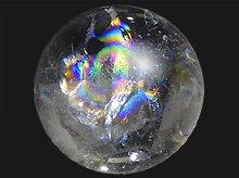 右水晶|レインボー水晶玉 23mm No.22|天然スパイラルクォーツ(螺旋水晶)