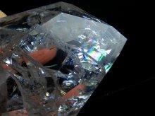 ファイヤー&アイス|レインボー水晶ポイント|右水晶 124g|ブラジル産|No.4