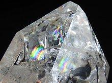 ファイヤー&アイス|レインボー水晶ポイント|右水晶 123g|ブラジル産|No.6