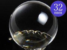 日本製無垢水晶玉|左水晶 34.7mm 5A|ブラジル産天然スパイラル水晶