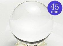 日本製無垢水晶玉|45.3mm 5A|左水晶|ブラジル産天然スパイラル水晶