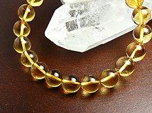 宝石質シトリン|右水晶 9mm玉|右手用ブレスレット