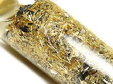 ゴールドルチル金針のボトル詰め|ガラスボトル入り金運インテリア|No.1
