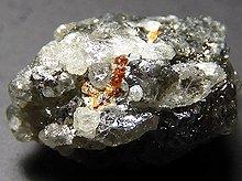 天然ダイヤモンド with ガーネット|共生鉱物|ロシア産原石