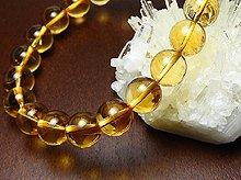 宝石質シトリン|右水晶 8mm玉|右手用ブレスレット