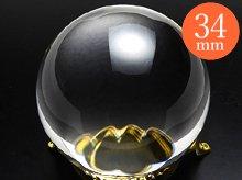 日本製無垢水晶玉|右水晶 31.8mm 5A|ブラジル産天然スパイラル水晶