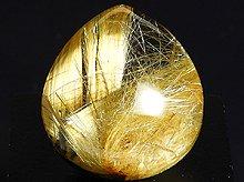 太陽ルチル|高品質ゴールドタイチンルチルクォーツ|大粒ペアシェイプ 8.8g|No.10