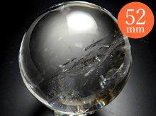 右水晶(一部双晶)|水晶玉 52mm|天然スパイラルクォーツ(螺旋水晶)