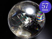 左水晶|水晶玉 57mm|天然スパイラルクォーツ(螺旋水晶)
