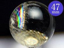 水晶玉(輸入品)|左水晶 2A-|47.6mm No.14|天然スパイラルクォーツ(螺旋水晶)