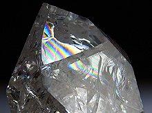 ファイヤー&アイス|レインボー水晶ポイント|右水晶 147g|ブラジル産|No.8