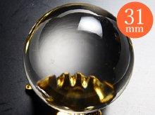 水晶玉(輸入品)|右水晶 2A|31mm No.16|天然スパイラルクォーツ(螺旋水晶)