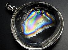 レインボー水晶|Silver925大粒ペンダントトップ|左水晶|No.2