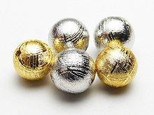【鑑別書あり】ギベオン隕石|シルバー・ゴールド各色|8mm|粒売り
