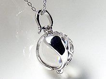 双晶|日本製無垢水晶玉 12mm|No.6|Silver925製ペンダント|天然スパイラル水晶