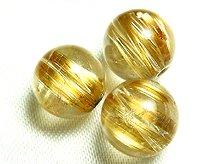 高品質ゴールドルチルクォーツ|左水晶・右水晶|スパイラル水晶|8mm|粒売り