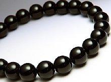 チベット産黒水晶(モリオン)|右水晶 8mm玉|右手用ブレスレット