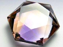 宝石質天然アメトリン|六芒星カット 25mm|No.6